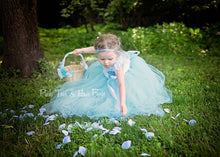 Flower girl dress-Blue flower Girl Dress-Light blue Flower girl dress-The Cadi