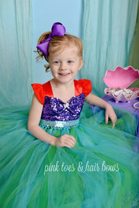The little mermaid Tutu Dress-The little mermaid dress- Ariel Costume -mermaid Tutu