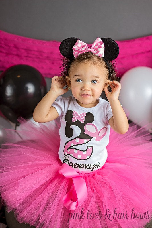 Minnie Mouse tutu set Minnie tutu set-Minnie mouse tutu- minnie mouse birthday