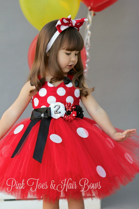 a4acd4b93 Red Minnie Mouse Tutu dress-Minnie Mouse costume-Red Minnie mouse ...