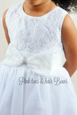 Load image into Gallery viewer, White lace Couture Dress-Ready to ship