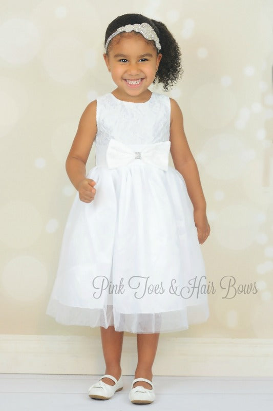 White lace Couture Dress-Ready to ship