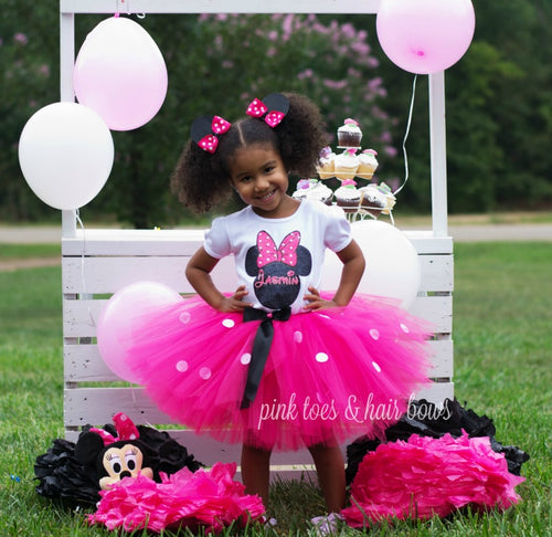 Bling Minnie Mouse tutu Set