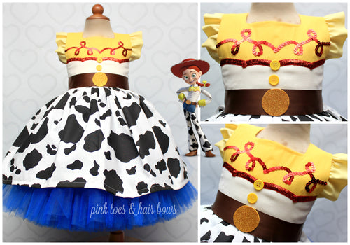 Toy story Tutu dress- Jessie tutu dress- Jessie toy story dress- Toy story costume