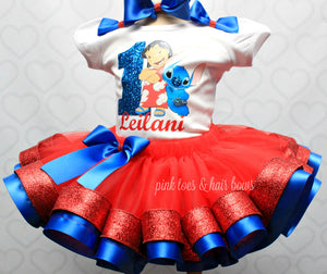 Lilo and Stitch tutu set- Lilo And stitch outfit-Lilo and Stitch dress