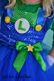 Super mario bros tutu dress- Luigi Costume