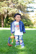 Load image into Gallery viewer, Toy story boys outfit - Toy story Denim Set-Boys Toy story boys denim set- toy story Birthday outfit