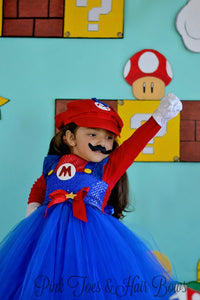 Super mario bros tutu dress- Mario Costume