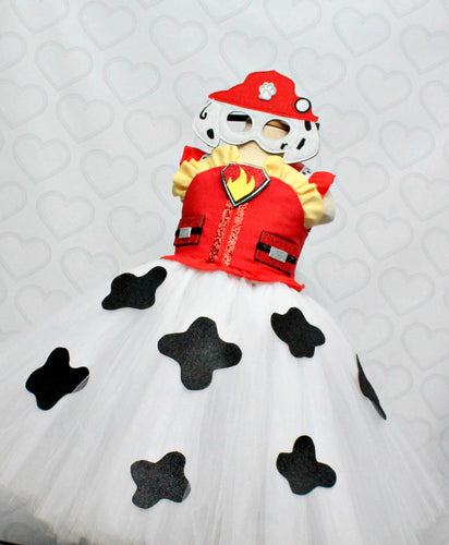 Paw patrol Costume- Marshall costume- Marshall paw patrol tutu dress-paw patrol tutu-Marshall dress