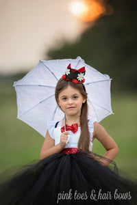Mary Poppins Dress- Mary Poppins costume- Mary poppins tutu dress