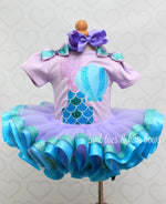Load image into Gallery viewer, Mermaid Tutu set-Mermaid outfit-Mermaid dress- Mermaid tutu
