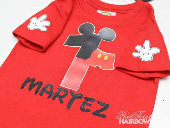 Mickey Mouse Shirt-Mickey Mouse Birthday Shirt-Mickey mouse Birthday outfit