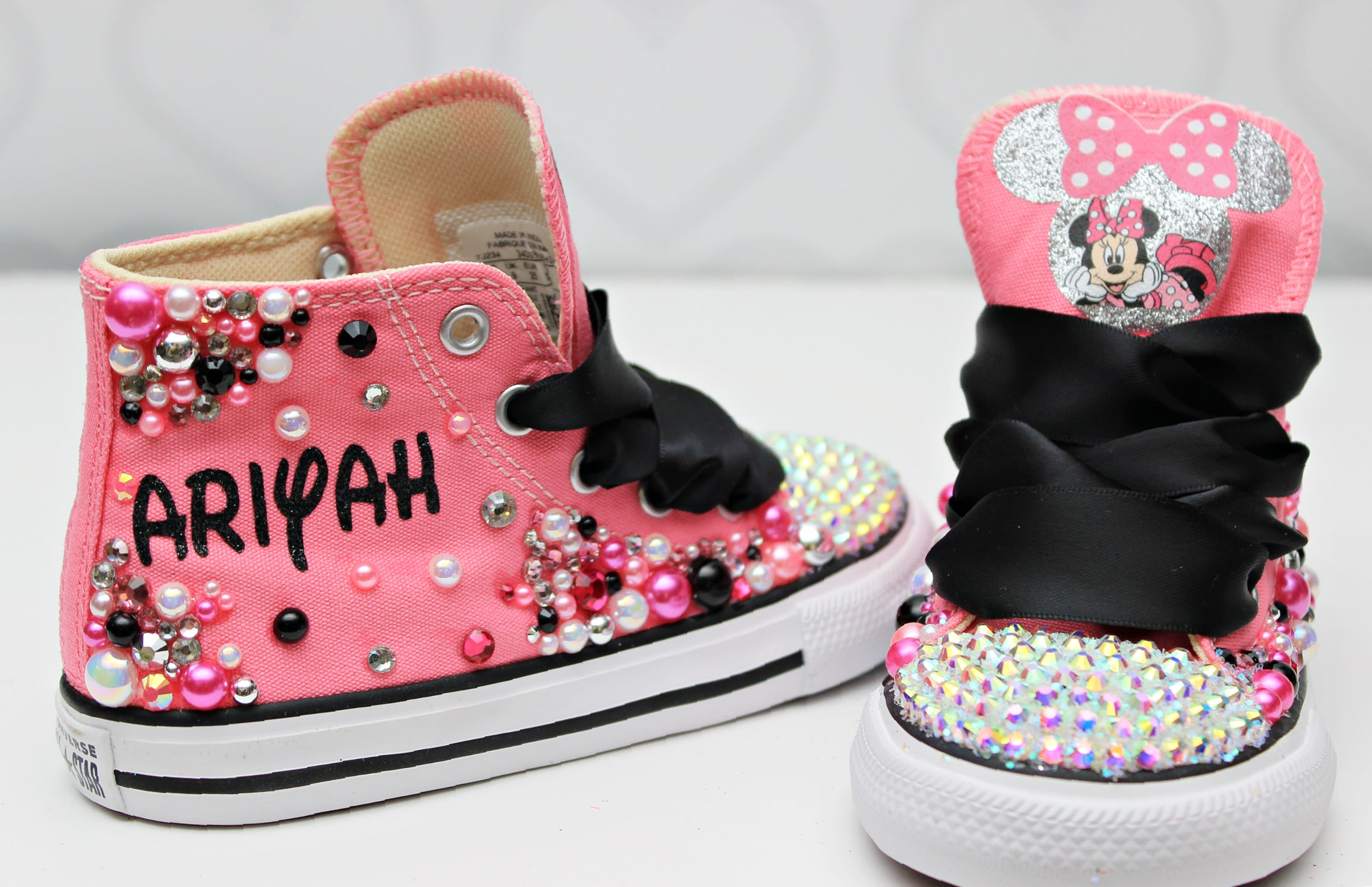 Minnie shoes- Minnie bling Converse-Girls Minnie Shoes
