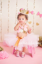 Load image into Gallery viewer, Minnie Mouse Pink & Gold Cake Smash Set