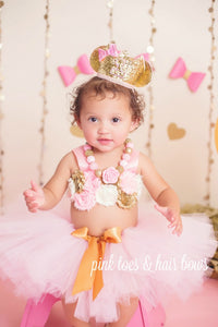 Minnie Mouse Pink & Gold Cake Smash Set