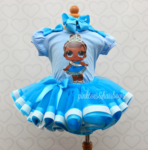 Miss Baby Lol surprise doll tutu set-lol surprise outfit- lol surprise dress