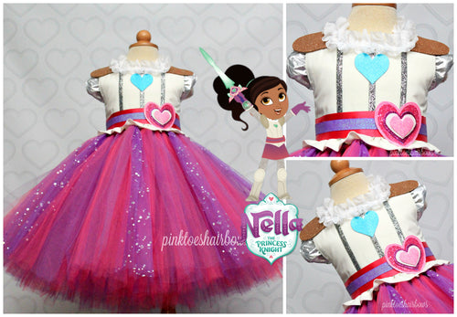 Nella the Princess Knight Dress-Nella the Princess Knight costume-Nella the Princess Knight tutu dress