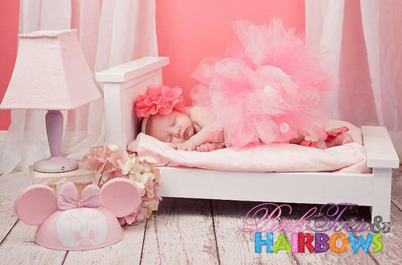 Minnie Mouse Newborn set-Light pink