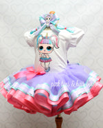 Load image into Gallery viewer, Unicorn lol surprise doll tutu set-Unicorn lol surprise outfit-Unicorn lol dress