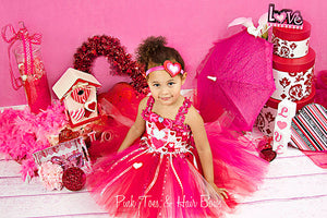 Girls Valentine Dress-Ayana's Valentine Dress