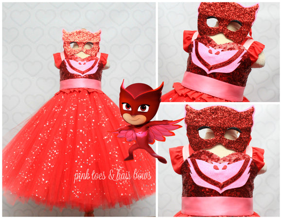 Pj mask owlette dress-pj mask outfit-pj mask dress-owlette dress