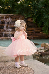 Peachy Pink Princess Dress