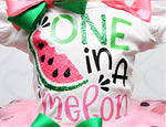 Load image into Gallery viewer, Watermelon tutu set-Watermelon outfit-Watermelon dress-One in a melon tutu set