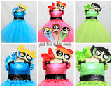 Powerpuff girl costume- powerpuff girl tutu costume- powerpuff costume dress- Powerpuff girl dress-powerpuff girl tutu-Blossom Costume