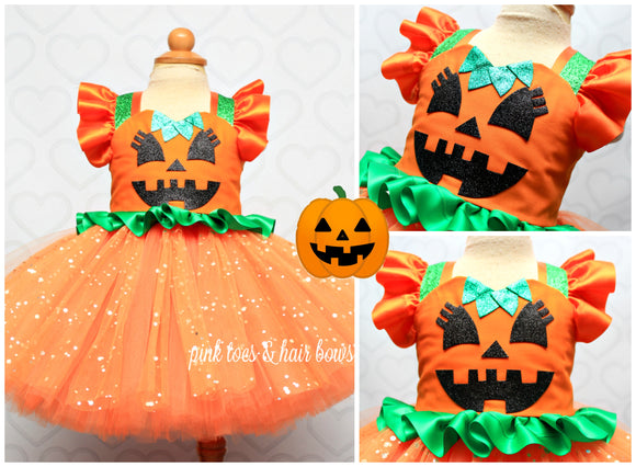 Pumpkin Dress- pumpkin Tutu Dress-pumpkin tutu- pumpkin costume-girly pumpkin dress
