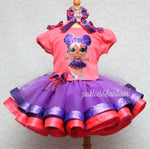 Load image into Gallery viewer, Purple Queen lol surprise doll tutu set-Purple queen lol surprise outfit-Purple queen lol dress