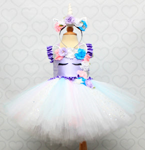 Unicorn dress-unicorn tutu dress-unicorn birthday dress-unicorn tutu-unicorn outfit-Lavender