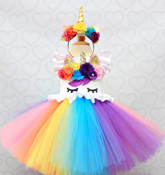 Unicorn dress-unicorn tutu dress-unicorn birthday dress-unicorn tutu-unicorn outfit-Rainbow