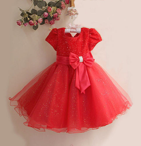 Red Glitter Christmas Dress-Ready to ship