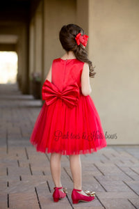 Red Wine Tulle Dress(ready to ship)