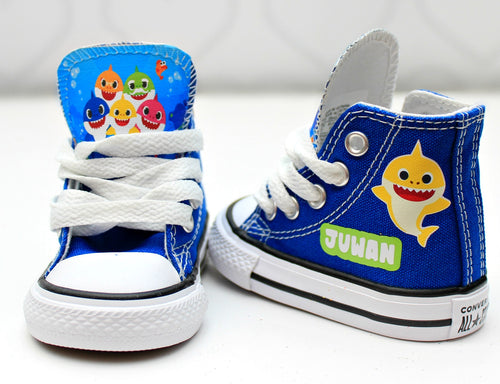 Baby Shark shoes-Baby Shark Converse-Boys Baby Shark Shoes
