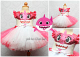 Baby Shark Dress-Baby Shark tutu set-Baby Shark outfit-Baby Shark tutu dress-Baby shark costume