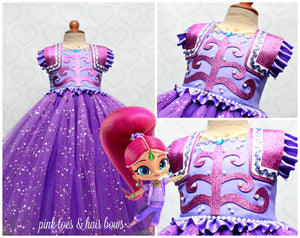 Shimmer and Shine Costume- Shimmer and Shine Dress- Shimmer and Shine tutu dress-Shimmer and shine