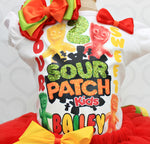 Load image into Gallery viewer, Sour Patch tutu set- Sour Patch outfit-Sour Patch dress