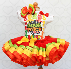 Sour Patch tutu set- Sour Patch outfit-Sour Patch dress