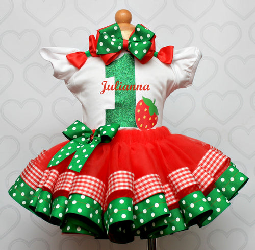 Strawberry tutu set-Strawberry outfit-Strawberry dress