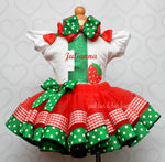 Load image into Gallery viewer, Strawberry tutu set-Strawberry outfit-Strawberry dress