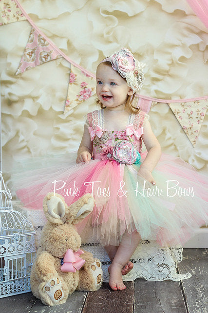 Tea Party Dress-Tea party tutu dress-Shabby Chic Dress
