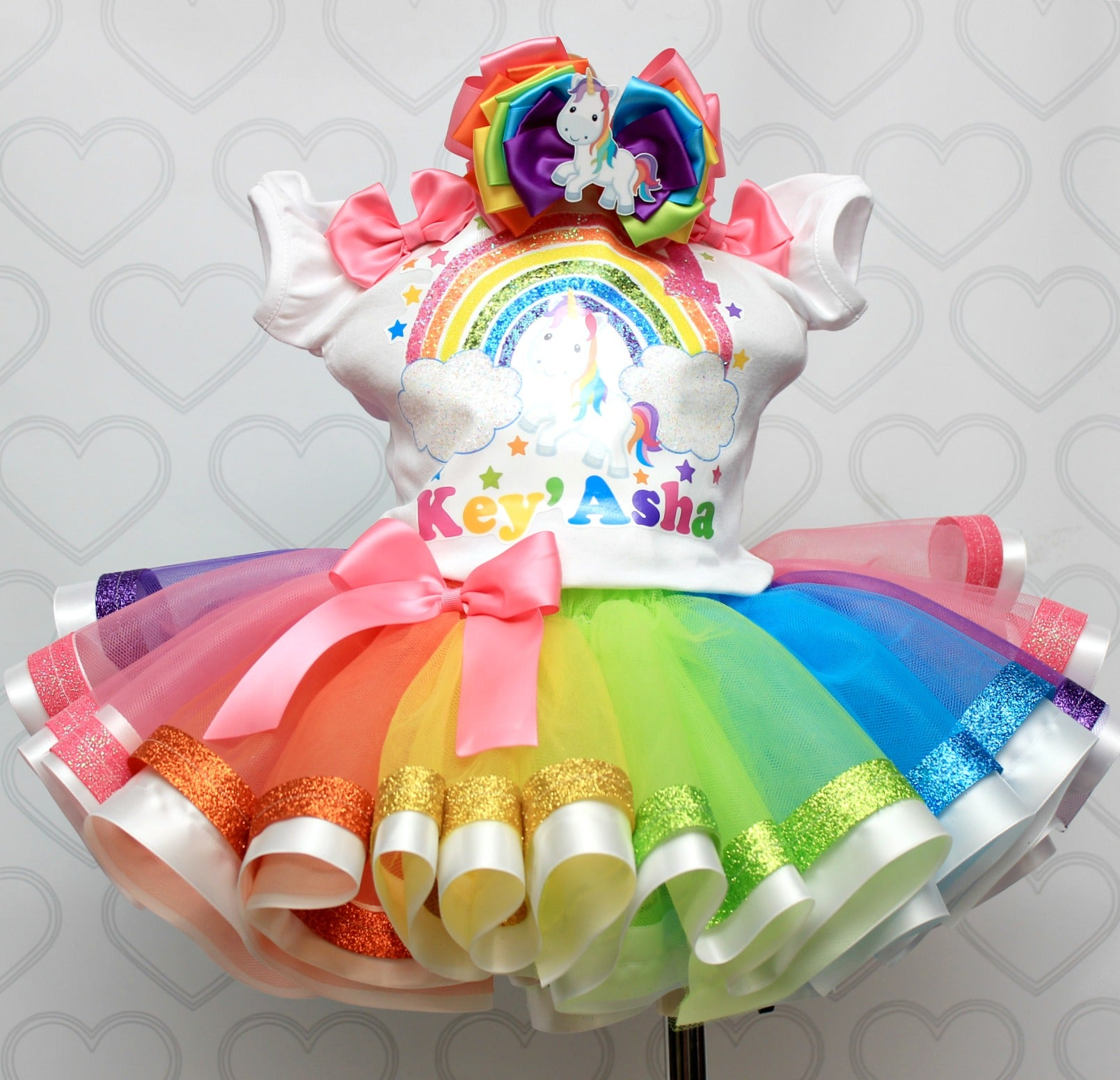 Unicorn tutu set-Unicorn outfit-Unicorn dress