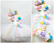 Unicorn dress-unicorn tutu dress-unicorn birthday dress-unicorn tutu-unicorn outfit-Gold Accents