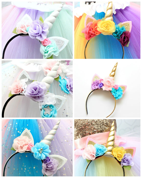 Unicorn Headband-Made to match any unicorn dress
