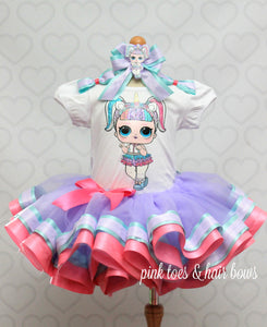Unicorn lol surprise doll tutu set-Unicorn lol surprise outfit-Unicorn lol dress
