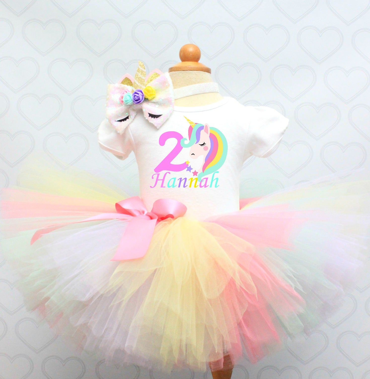 Unicorn tutu Set- unicorn tutu-unicorn birthday outfit-unicorn dress