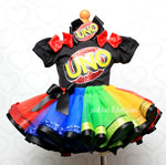 Load image into Gallery viewer, Uno Tutu set- Uno outfit-Uno dress- Uno tutu