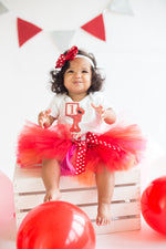 Load image into Gallery viewer, Elmo tutu set-Girly Elmo tutu set-Girl Elmo outfit