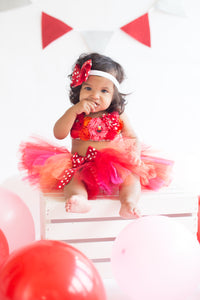 Elmo tutu set-Elmo cake smash Set